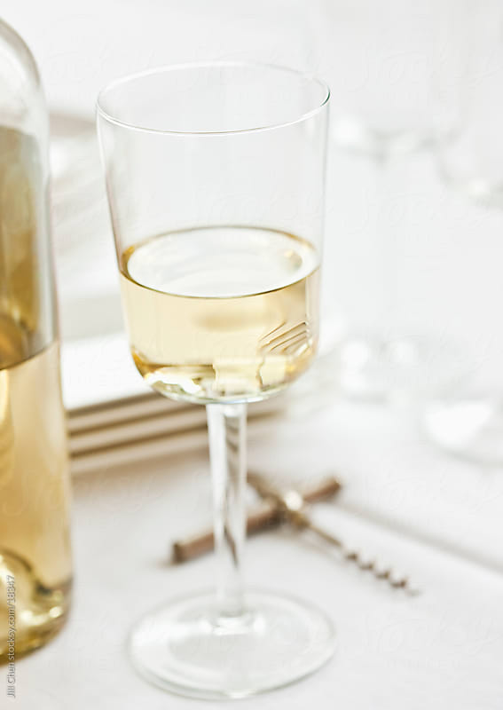 White Wine Still Life by Jill Chen for Stocksy United
