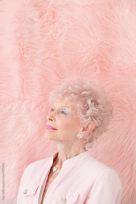 Pink portrait by Ivan Solis for Stocksy United