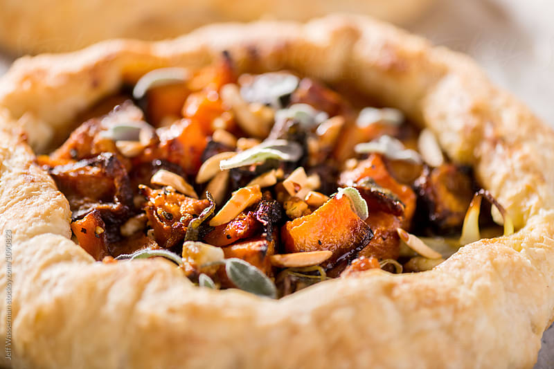 Roasted Squash and Leek Galette by Studio Six for Stocksy United