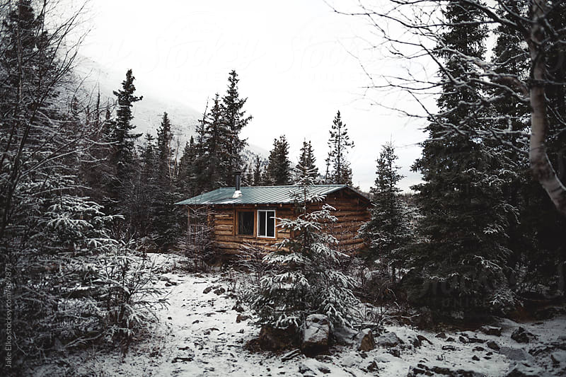 Cabin View from Far by Jake Elko for Stocksy United