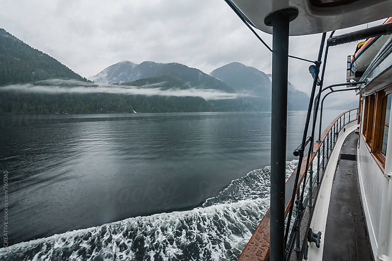 Boat ride adventure through the British Columbia's Great Bear Rainforest. by RZ CREATIVE for Stocksy United