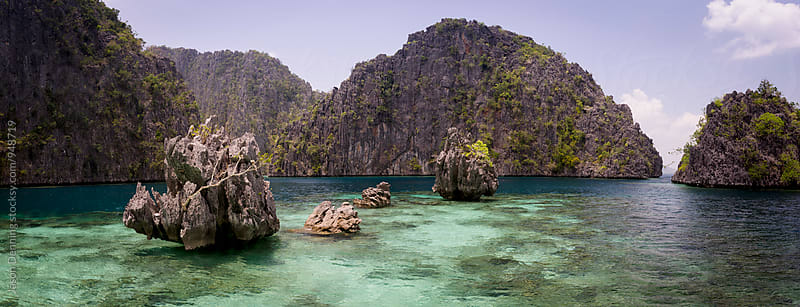 The Limestone Cliffs of Coron Island by Jason Denning for Stocksy United