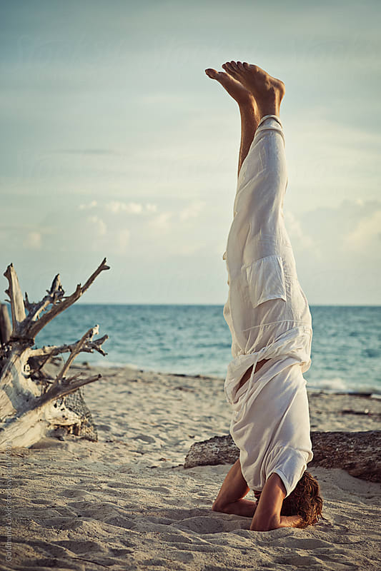 Yoga at a Beach by Goldmund Lukic for Stocksy United