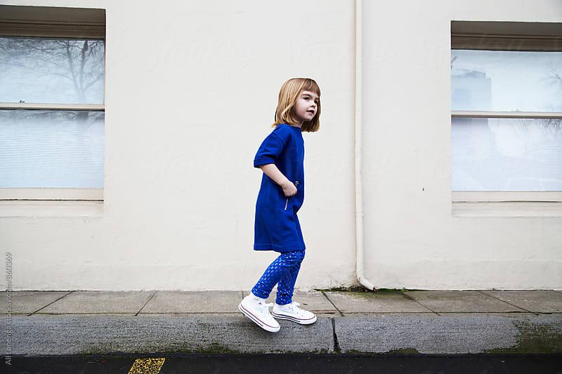Girl in Blue by Ali Lanenga for Stocksy United