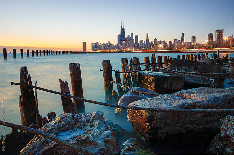 Lake and Skyline  by Brian Koprowski for Stocksy United