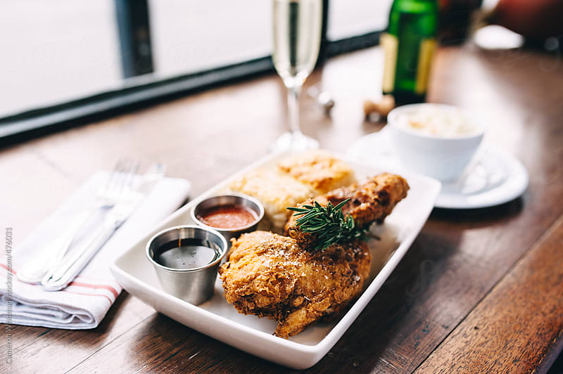 Typical Southern Fried Chicken Dinner by Cameron Whitman for Stocksy United
