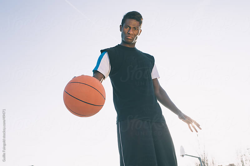 street basket black player by Guille Faingold for Stocksy United