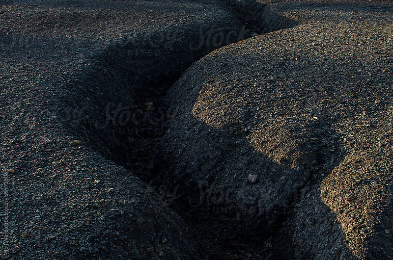 Dried stream patterns in earth by Neil Warburton for Stocksy United