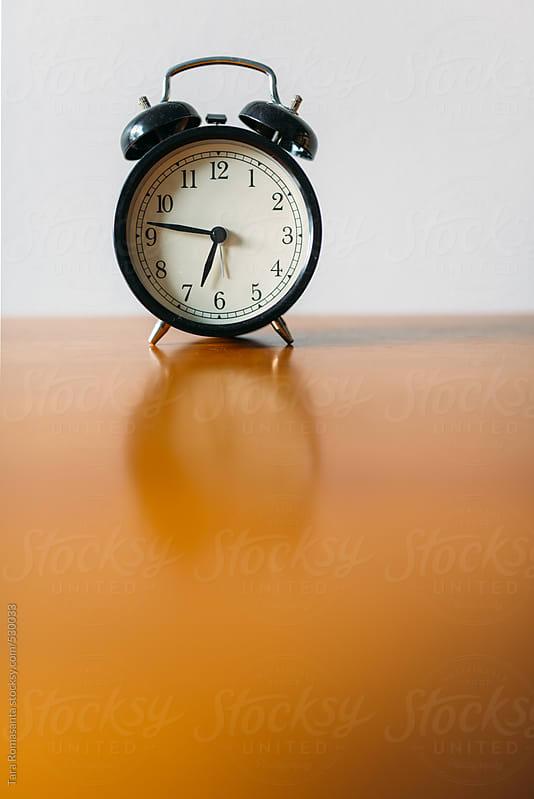 old fashioned alarm clock  by Tara Romasanta for Stocksy United
