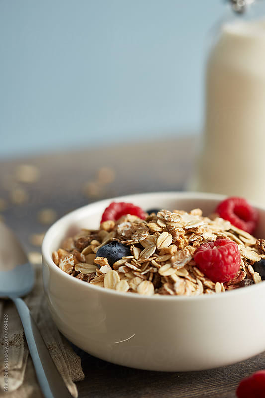 Muesli breakfast by Martí Sans for Stocksy United
