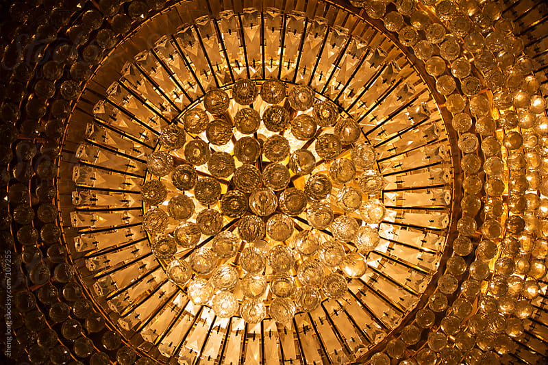 chandelier of hotel by zheng long for Stocksy United