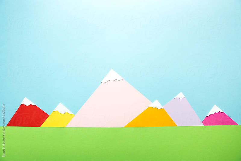 Mountain tops covered with snow by Beatrix Boros for Stocksy United