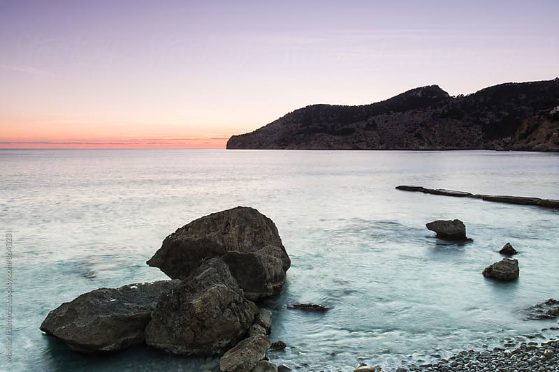 Mallorca coast at sunset by Marilar Irastorza for Stocksy United