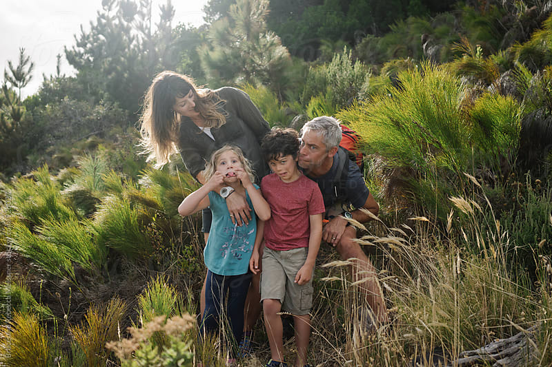 Family Outdoors by Bruce and Rebecca Meissner for Stocksy United