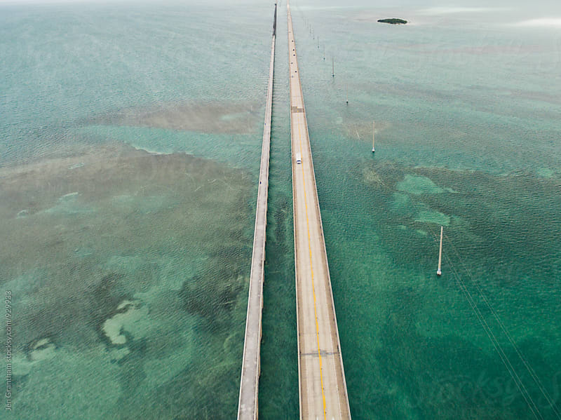 Seven Mile Bridge, Florida Keys, USA by Jen Grantham for Stocksy United