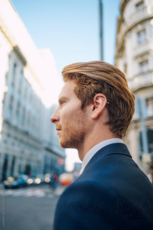Portrait of a Caucasian Businessman  by Lumina for Stocksy United