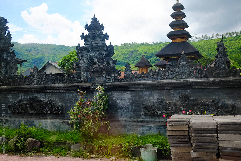 A temple wall in Bali, Indonesia by Leandro Crespi for Stocksy United