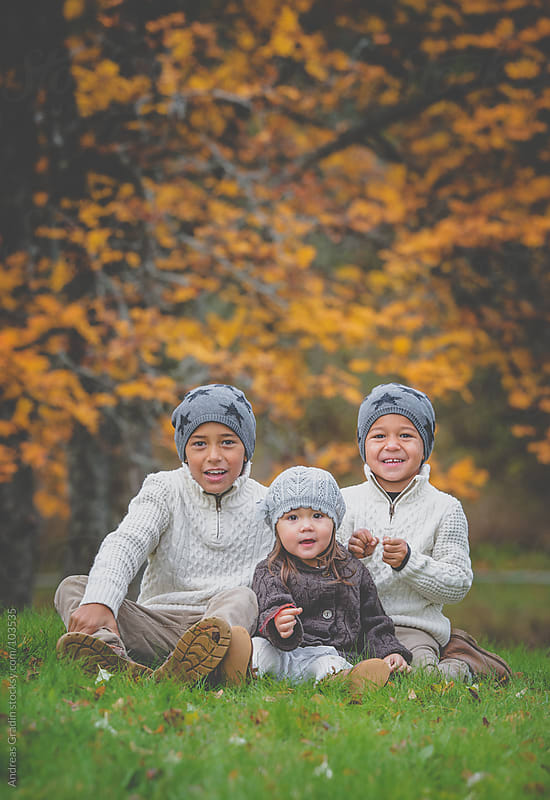 autumn family by Andreas Gradin for Stocksy United