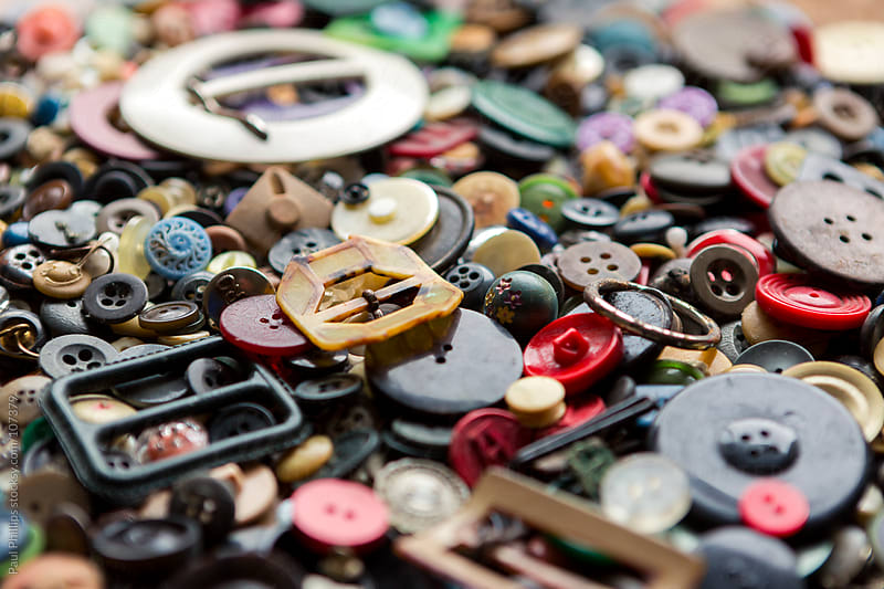 Antique and vintage buckles and buttons gathered together by Paul Phillips for Stocksy United