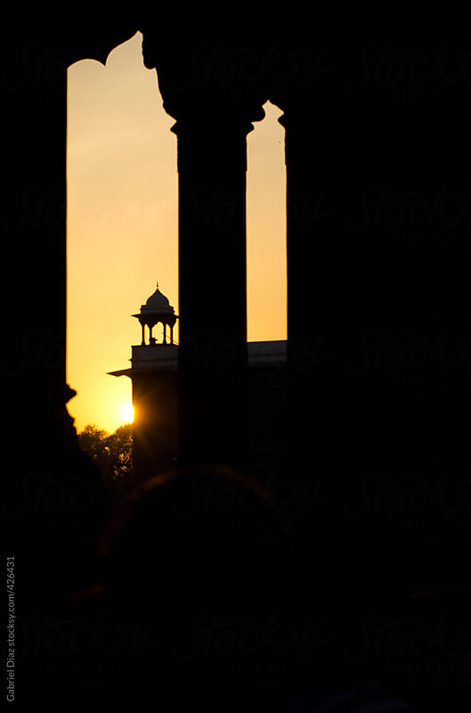 Sunset at the Red Fort . Delhi by Gabriel Diaz for Stocksy United