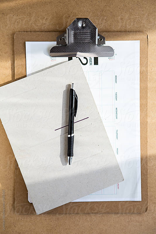 Clipboard With a Planner by Lumina for Stocksy United