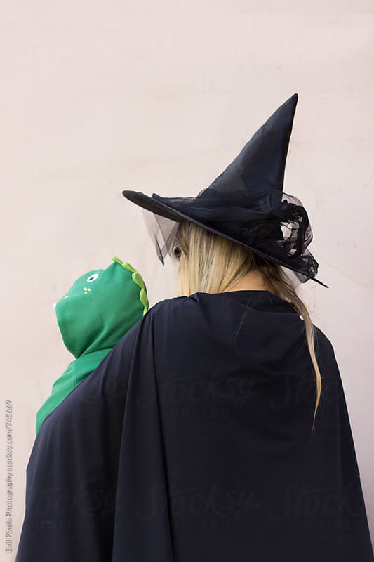 Anonymous mother and son going to the halloween party by Branislava Živić for Stocksy United