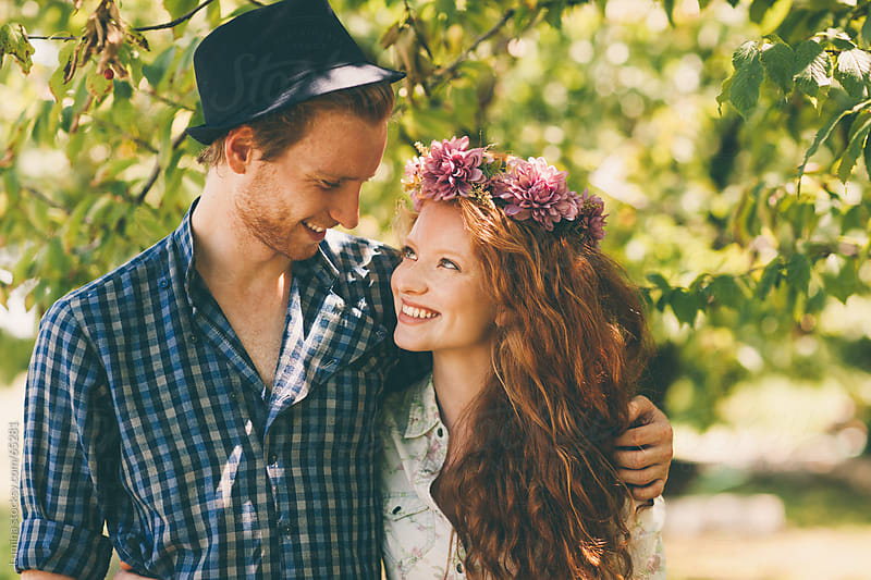 Happy Ginger Caucasian Couple by Lumina for Stocksy United