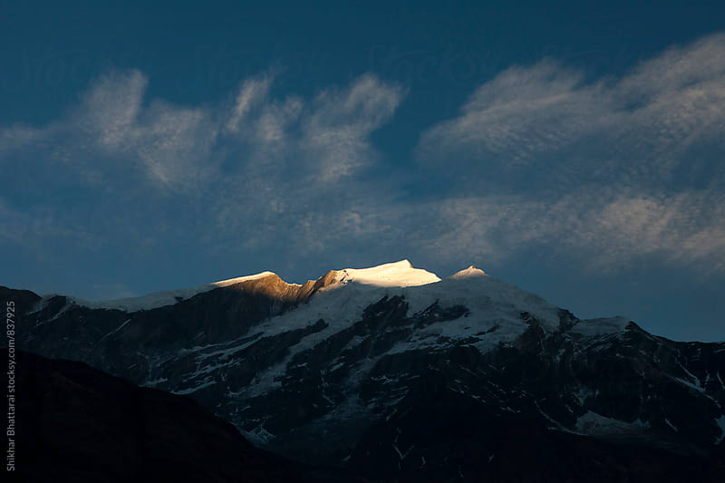 Sunrise in the himalayas. by Shikhar Bhattarai for Stocksy United