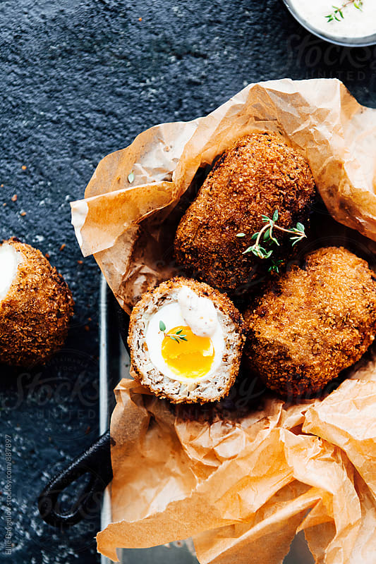 Scotch eggs by Ellie Baygulov for Stocksy United