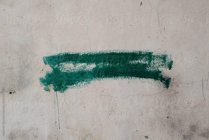 Splash of Green Paint on Grunge Wall by Nemanja Glumac for Stocksy United