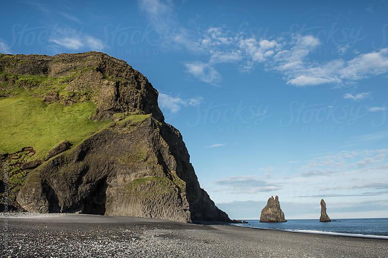 Icelandic coastline cliffs by Andreas Gradin for Stocksy United