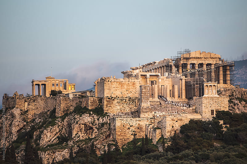Evzones Enter the Acropolis by Helen Sotiriadis for Stocksy United