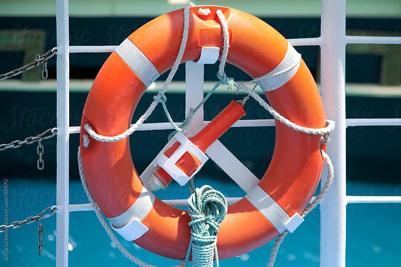 life saving buoy by Sonja Lekovic for Stocksy United