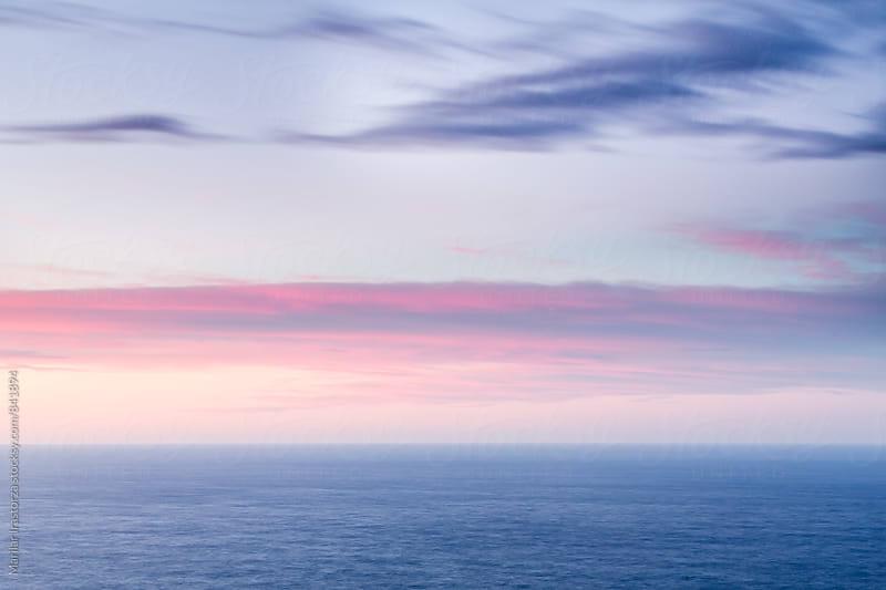 Sunset over sea by Marilar Irastorza for Stocksy United