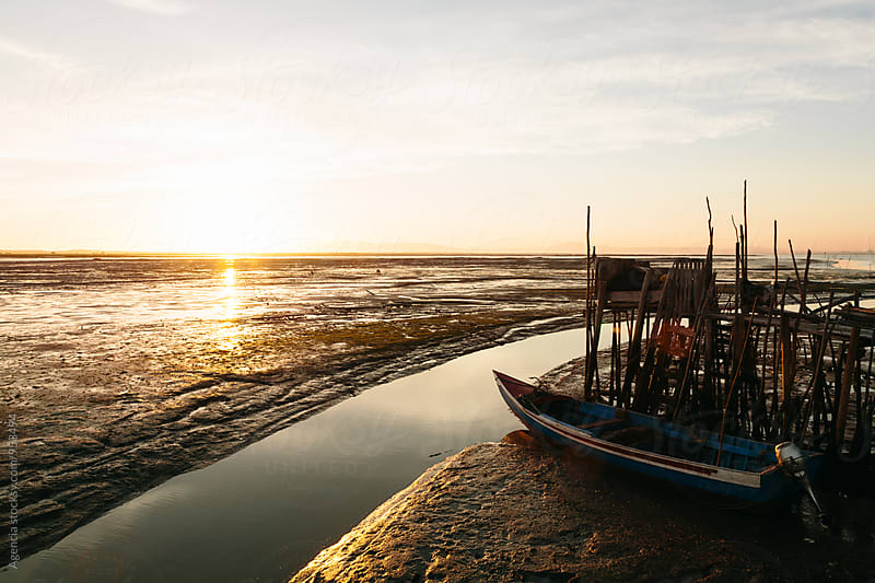 Harbour at Sunset by Agencia for Stocksy United