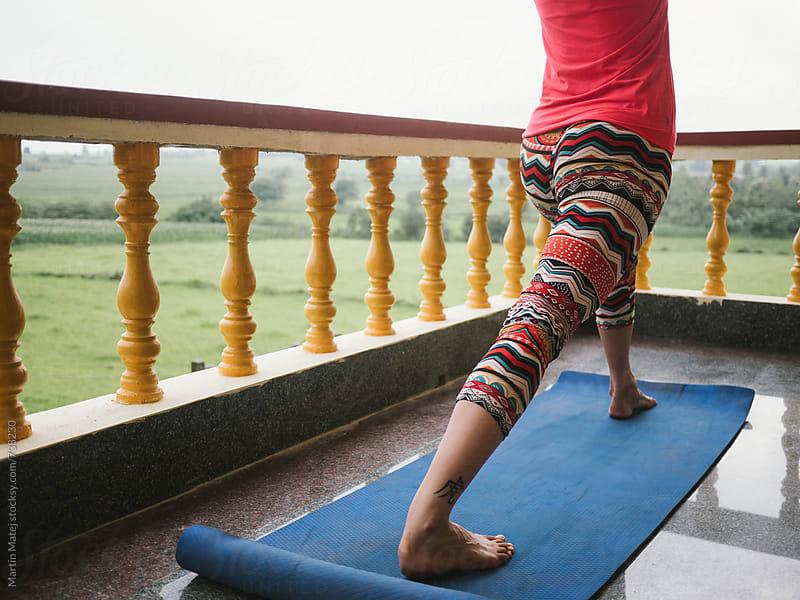 Yoga on the Balcony by Martin Matej for Stocksy United