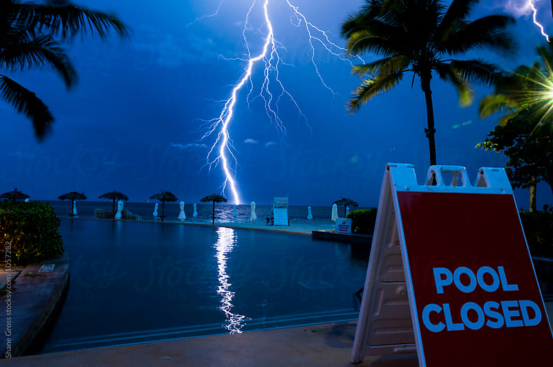 Pool Closed - Lightning by Shane Gross for Stocksy United