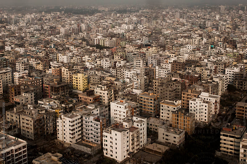 Aerial view of Dhaka city. by Shikhar Bhattarai for Stocksy United