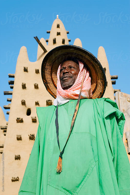Africa, West Africa, Mali, Mopti Region, Niger Inland Delta, Djenne, Djenne Mosque, The Mosque is the largest mud structure in the world, Djenne is a UNESCO World Heritage Site, by Gavin Hellier for Stocksy United