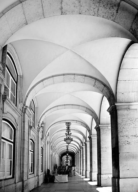 Lisbon Arcade by Agencia for Stocksy United