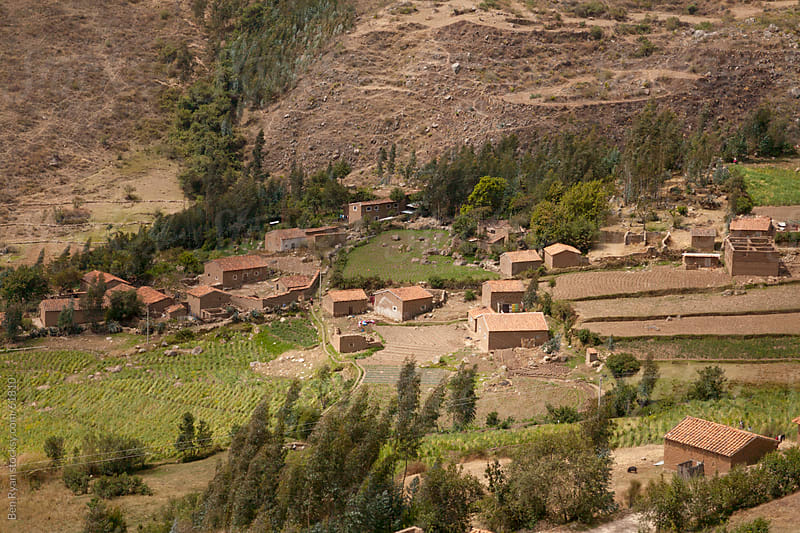 Colonial hispanic village in the Peruvian Andes by Ben Ryan for Stocksy United