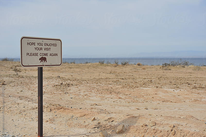 Sign, Salton Sea, CA by Shannon Aston for Stocksy United