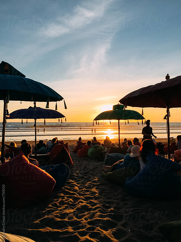 A beautiful sunset in an indonesian beach by Leandro Crespi for Stocksy United