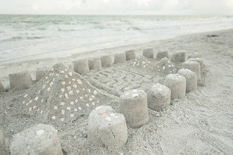 Beach Sand Castle by Alison Winterroth for Stocksy United