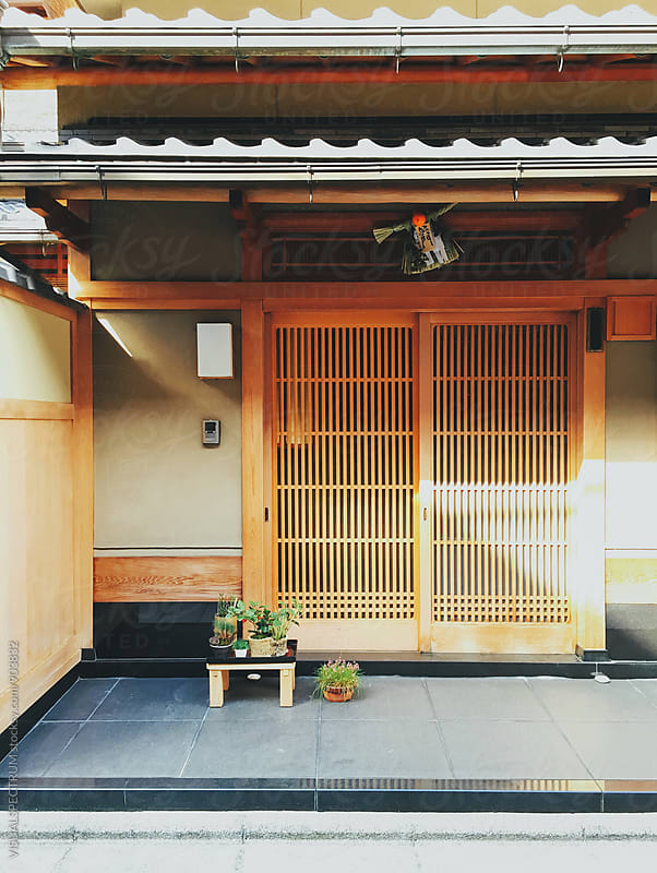 Japanese Architecture - Traditional Kyoto House Entrance by VISUALSPECTRUM for Stocksy United