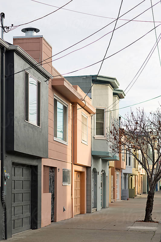 Colorful Houses in San Francisco by Kim Lucian for Stocksy United