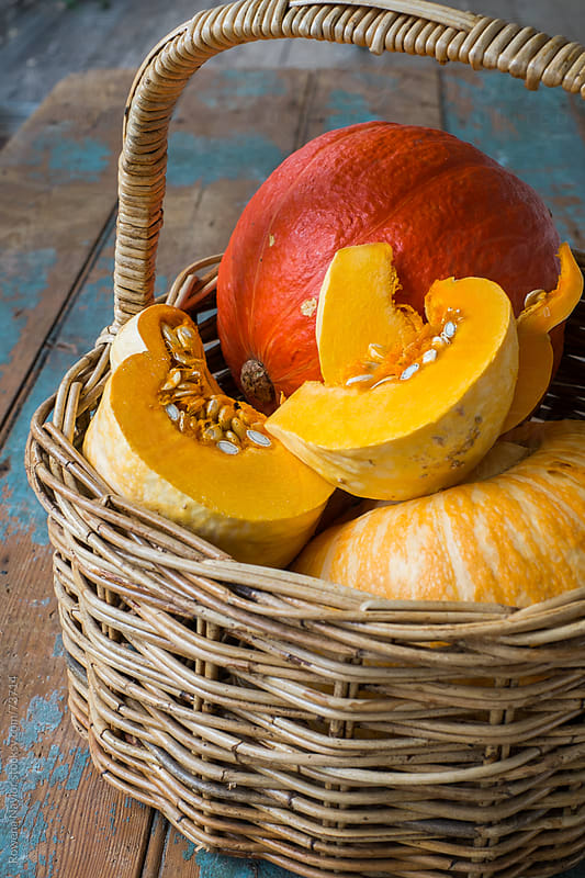 Basket of Organic Pumpkins by Rowena Naylor for Stocksy United