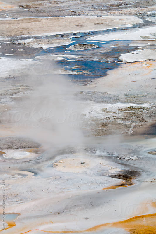 Natural Geysers And Hot Springs At Norris Geyser Basin In Yellowstone National Park by Luke Mattson for Stocksy United