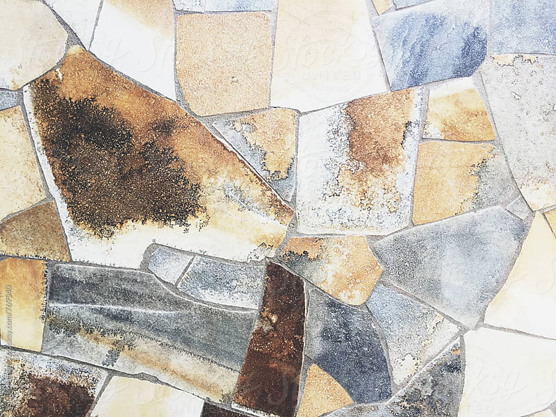 View on stone mosaic wall by Guille Faingold for Stocksy United