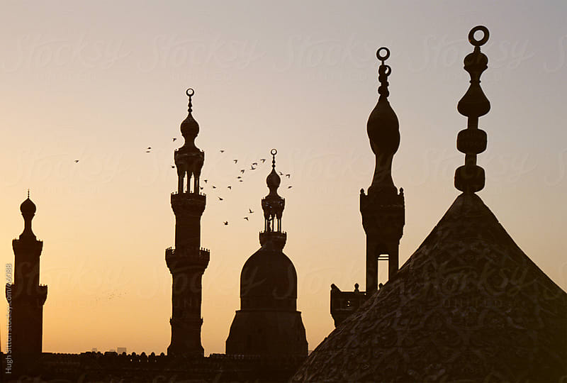 Minarets of the Sultan Hassan Mosques. Cairo. Egypt. by Hugh Sitton for Stocksy United
